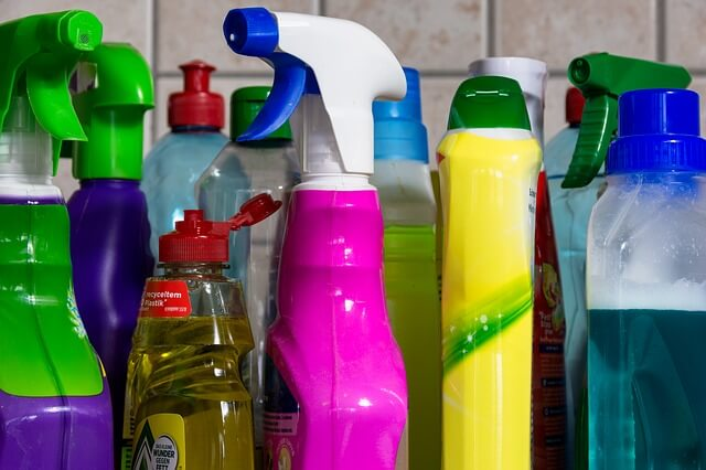 cleaning detergents in a London house