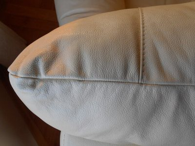 cleaning leather upholstery in a London home