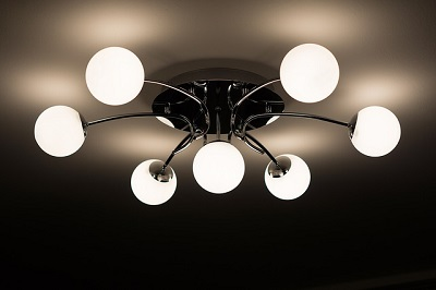 ceiling lamp in a London home