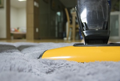 vacuum cleaner in a London house