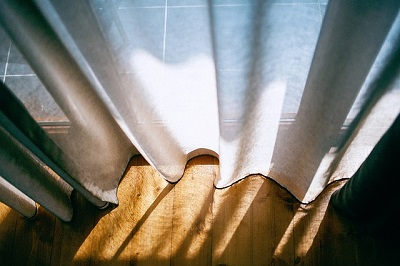curtains in a London house