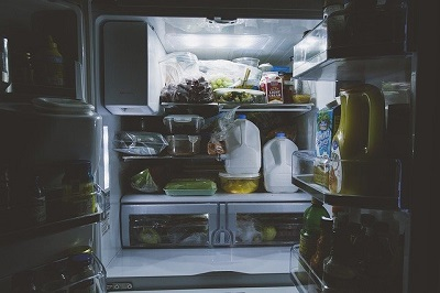 open fridge in London