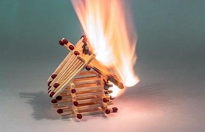 burning house of matches