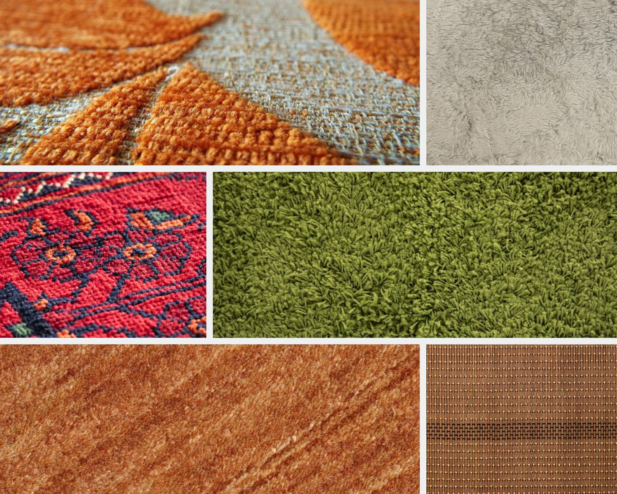 different kinds of carpet fibers