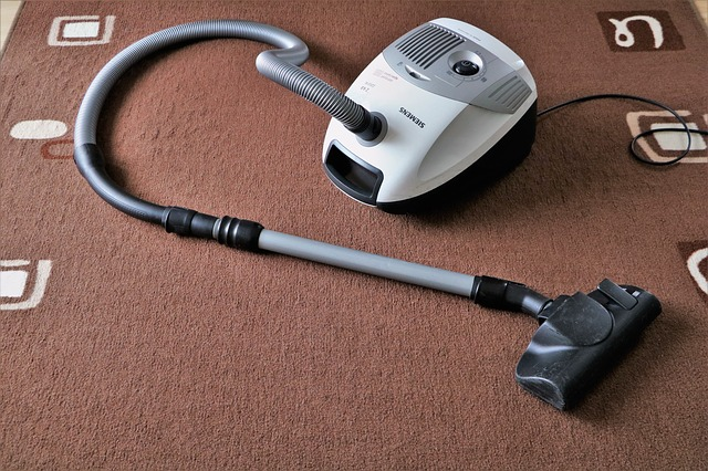 vacuum cleaner on a carpet in London