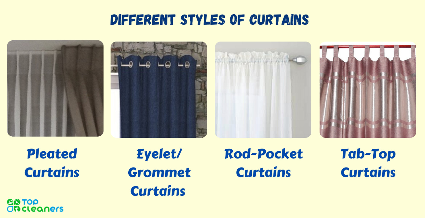 types of different curtain styles