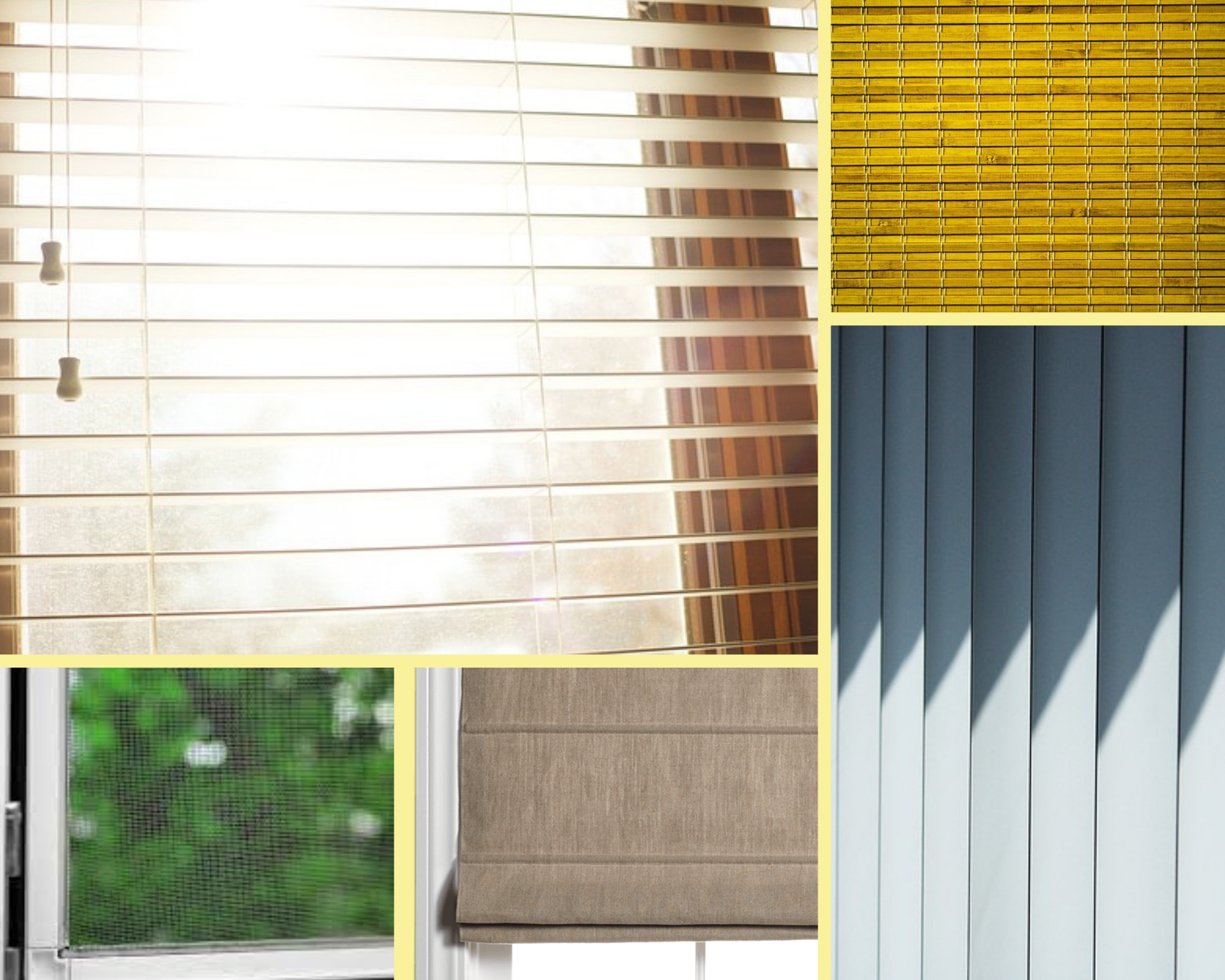 different types of window covers