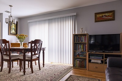 vertical window blinds at home