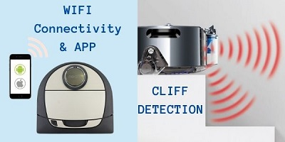cliff detection and wifi functions