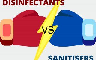 sanitisers vs disinfectants